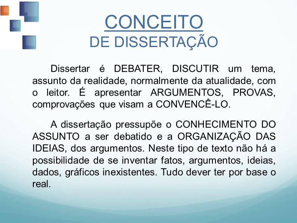 CONCEITO DE DISSERTAÇÃO
