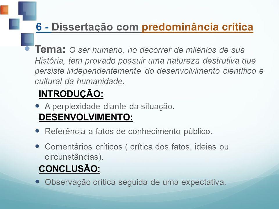 6 - Dissertação com predominância crítica