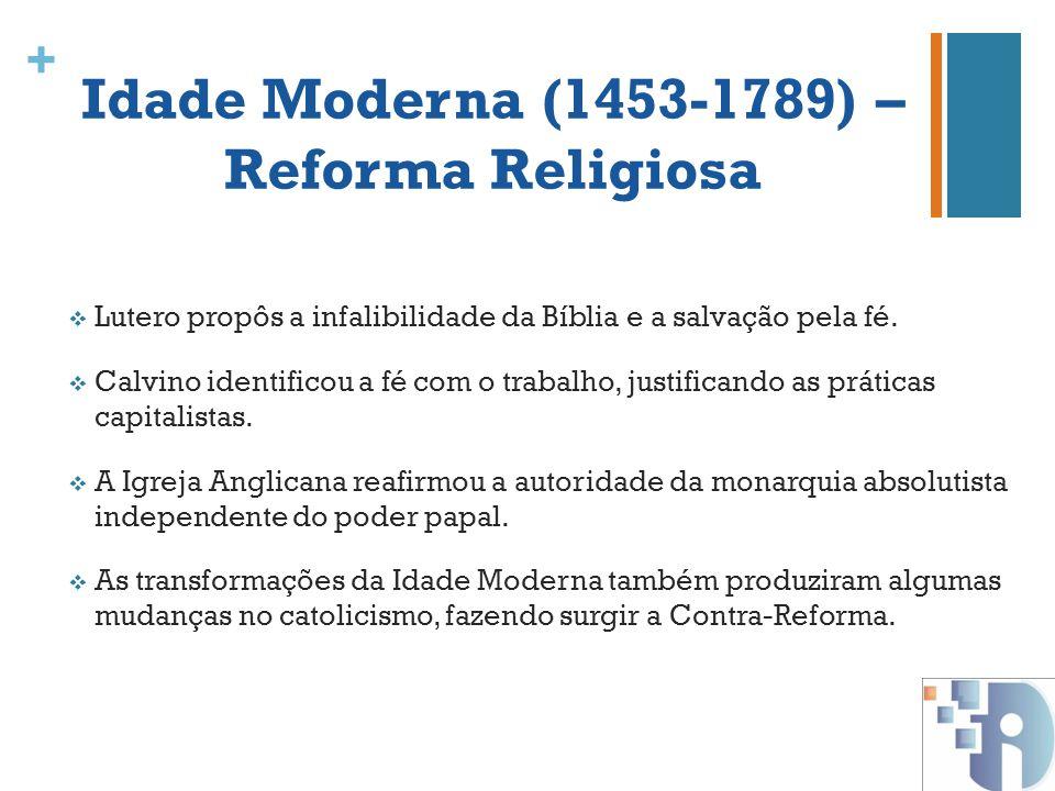 Idade Moderna (1453-1789) – Reforma Religiosa
