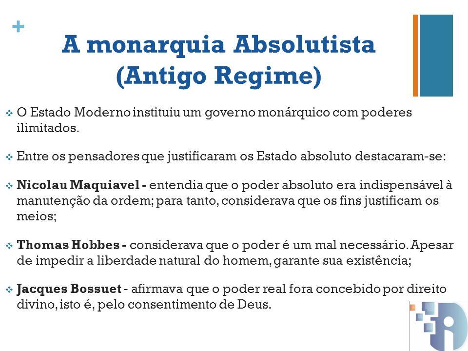 A monarquia Absolutista (Antigo Regime)