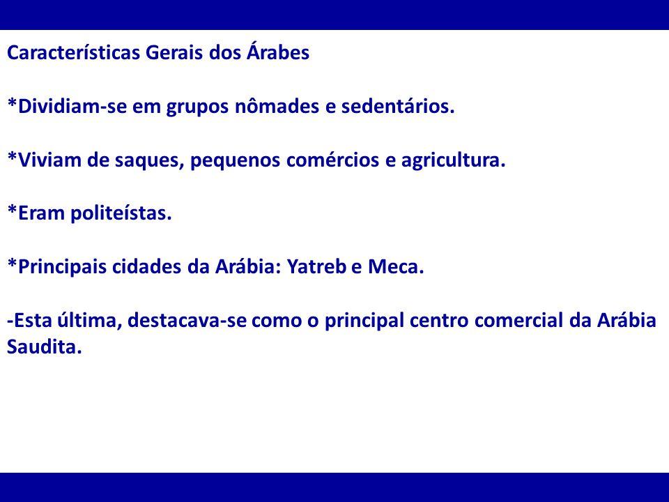 Características Gerais dos Árabes