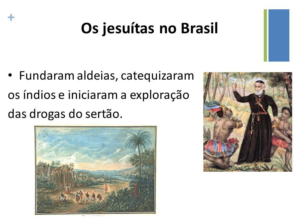 Os jesuítas no Brasil Fundaram aldeias, catequizaram
