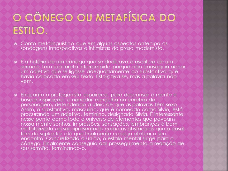 O cônego ou metafísica do estilo.