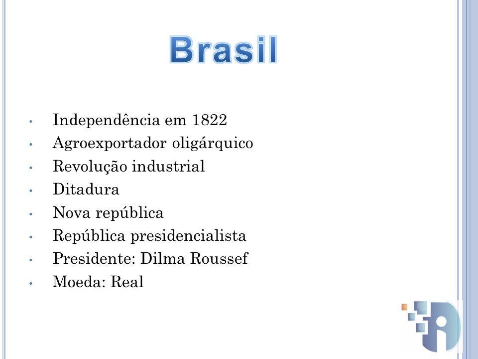 Brasil Independência em 1822 Agroexportador oligárquico