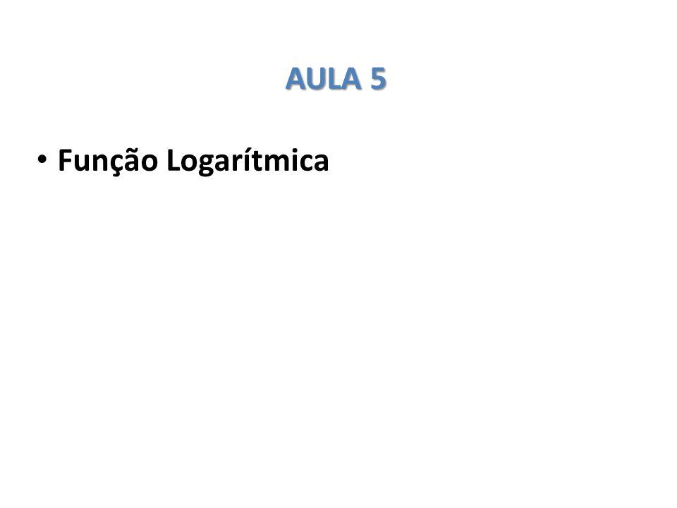 AULA 5 Função Logarítmica