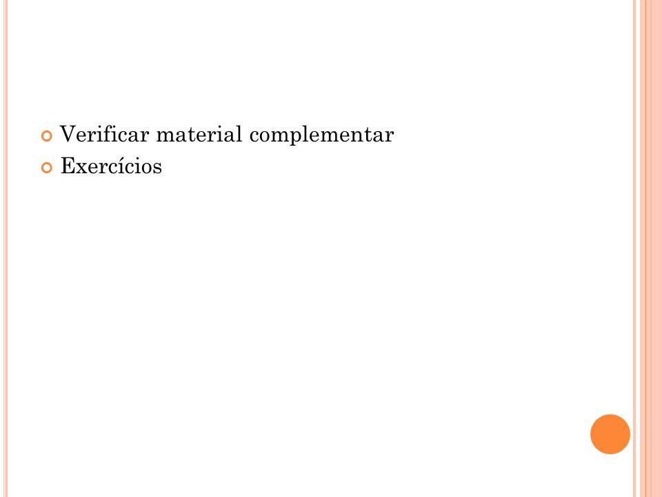 Verificar material complementar