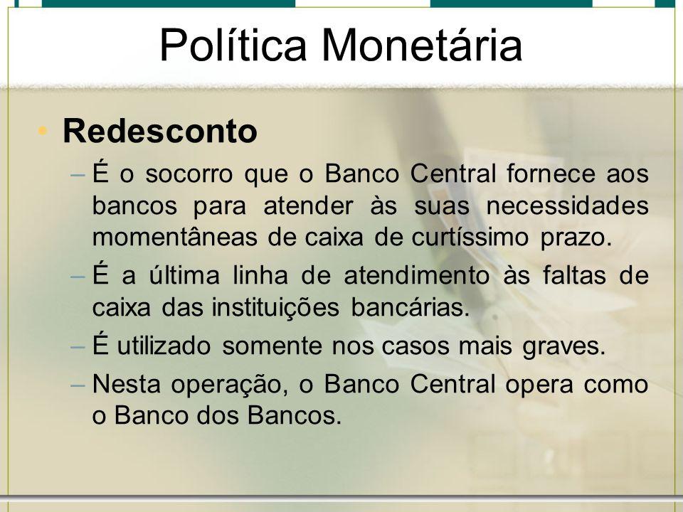 Política Monetária Redesconto