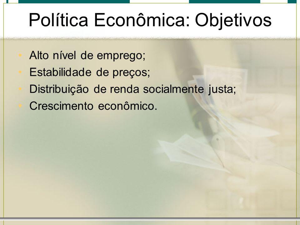 Política Econômica: Objetivos