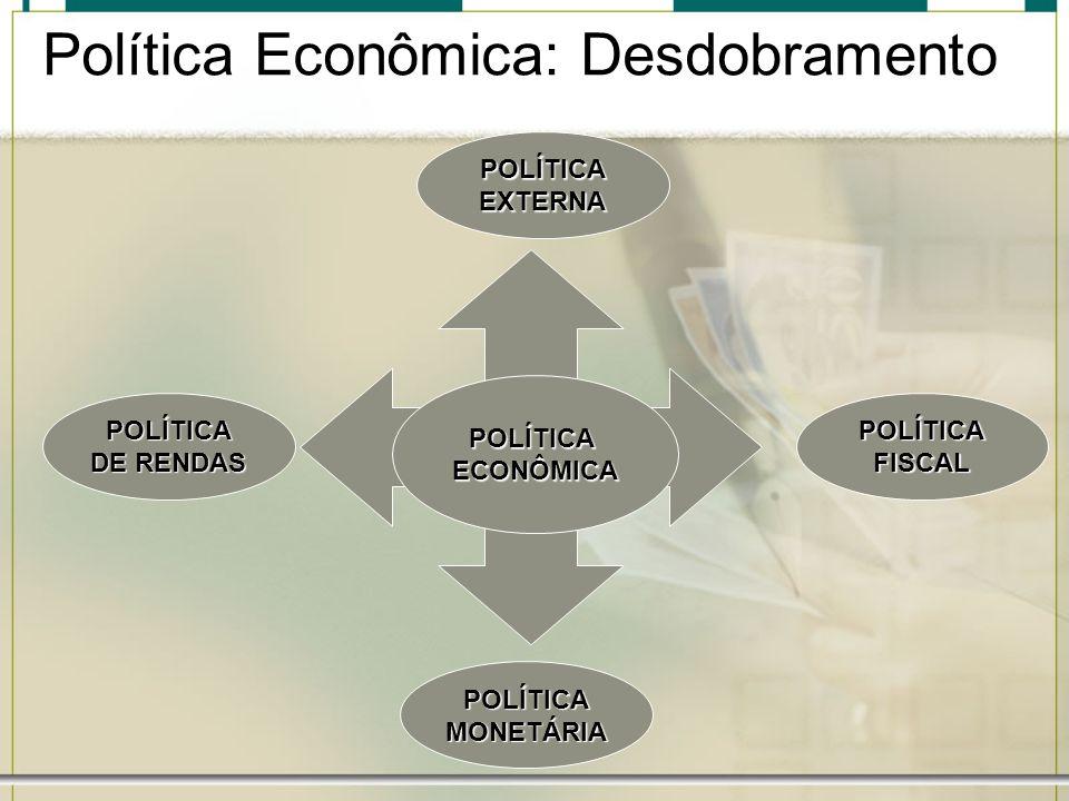 Política Econômica: Desdobramento