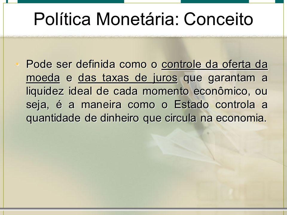 Política Monetária: Conceito