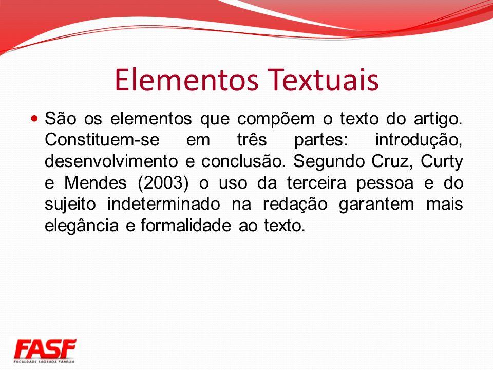 Elementos Textuais