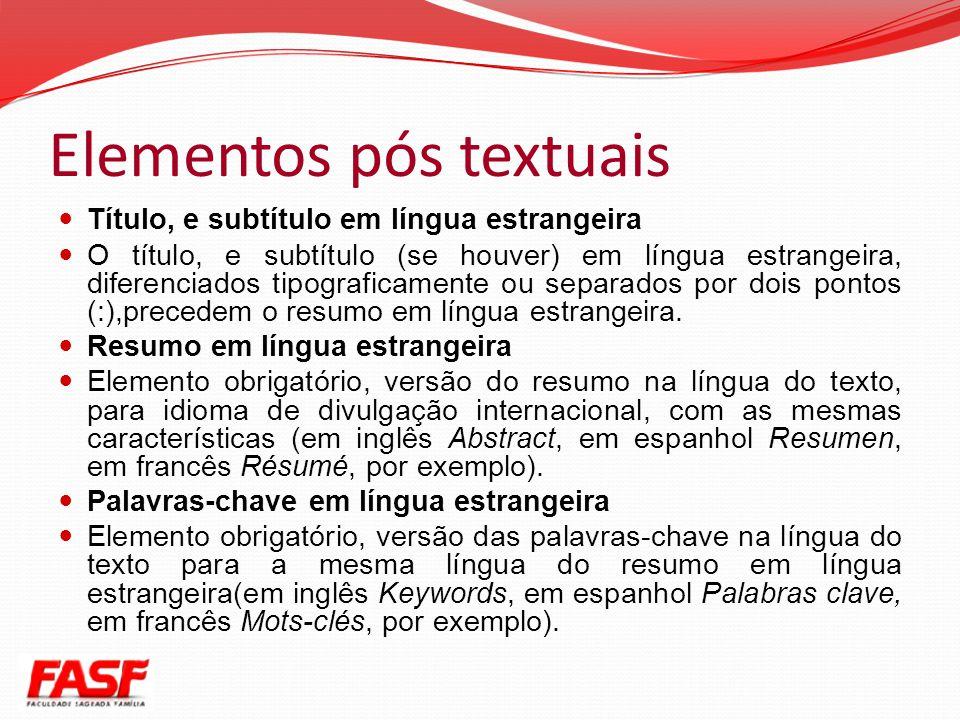 Elementos pós textuais