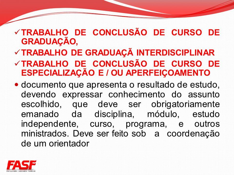 TRABALHO DE CONCLUSÃO DE CURSO DE GRADUAÇÃO,