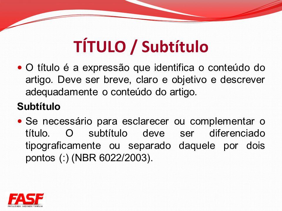 TÍTULO / Subtítulo