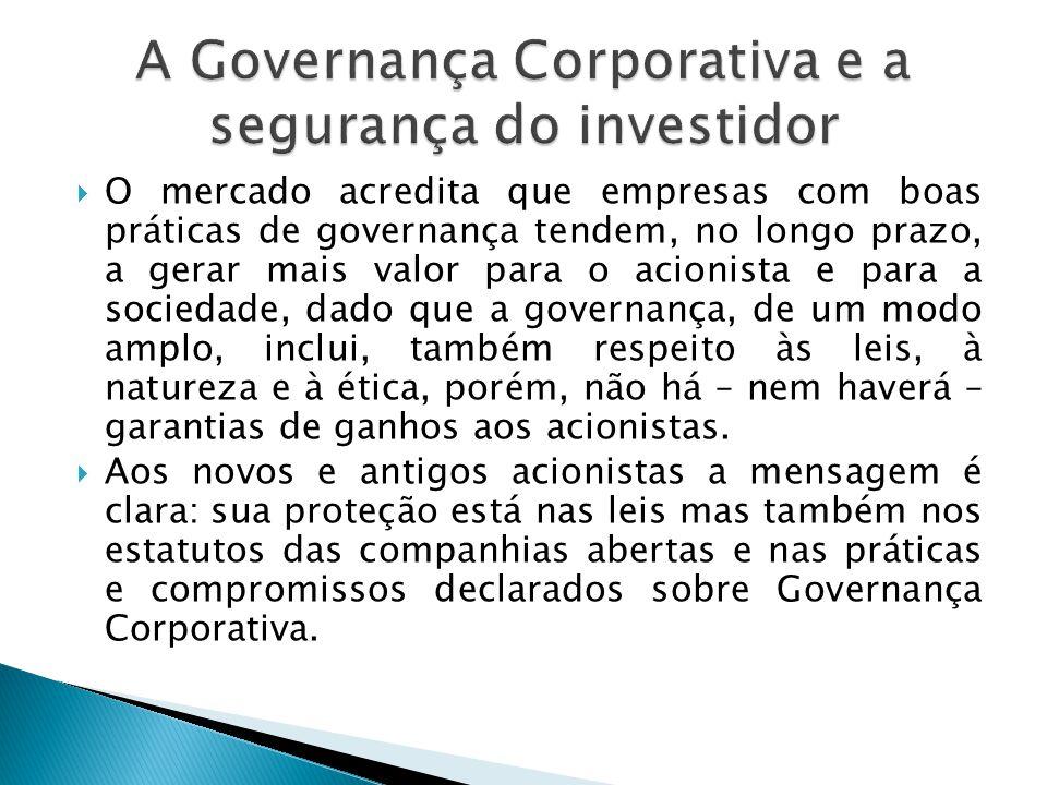 A Governança Corporativa e a segurança do investidor