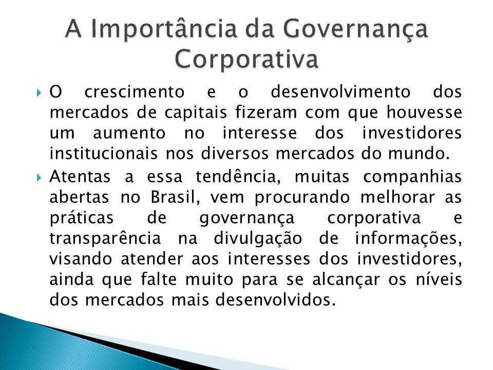 A Importância da Governança Corporativa