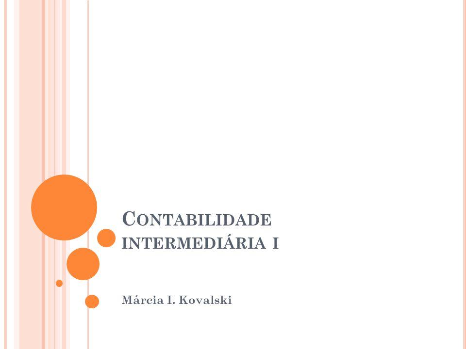 Contabilidade intermediária i