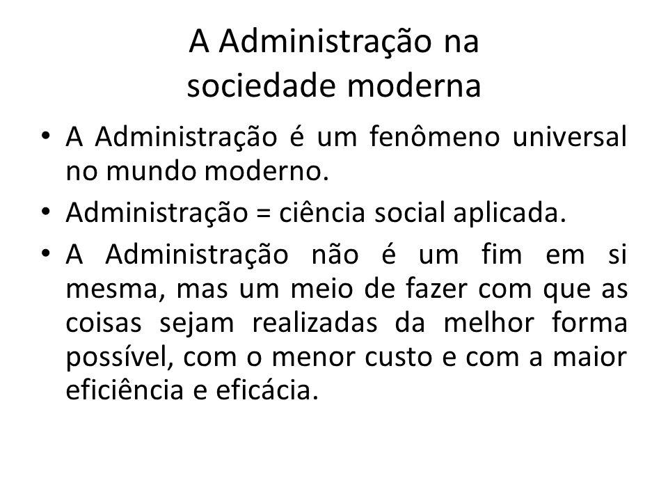 A Administração na sociedade moderna