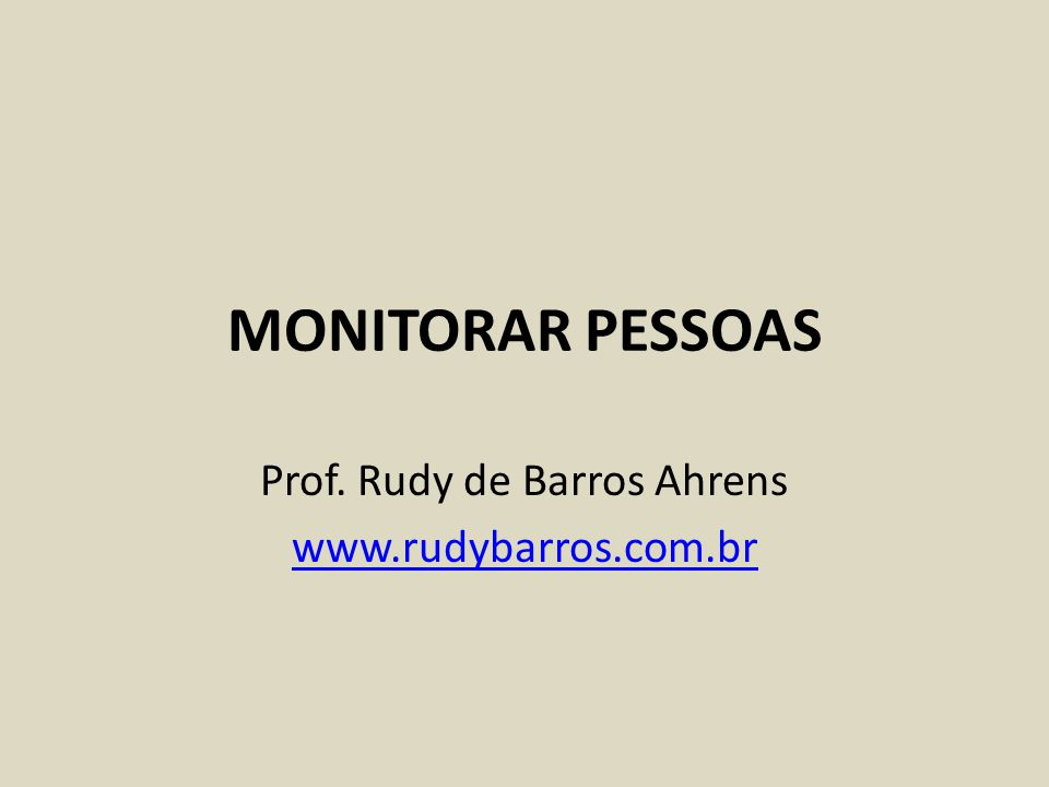 Prof. Rudy de Barros Ahrens www.rudybarros.com.br