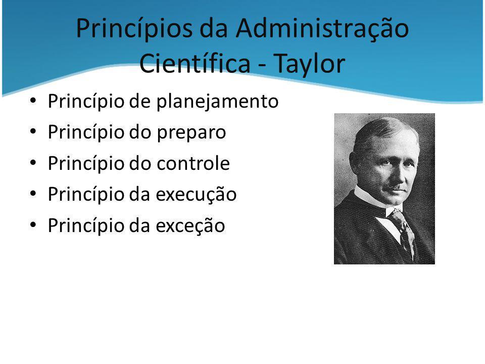 Princípios da Administração Científica - Taylor