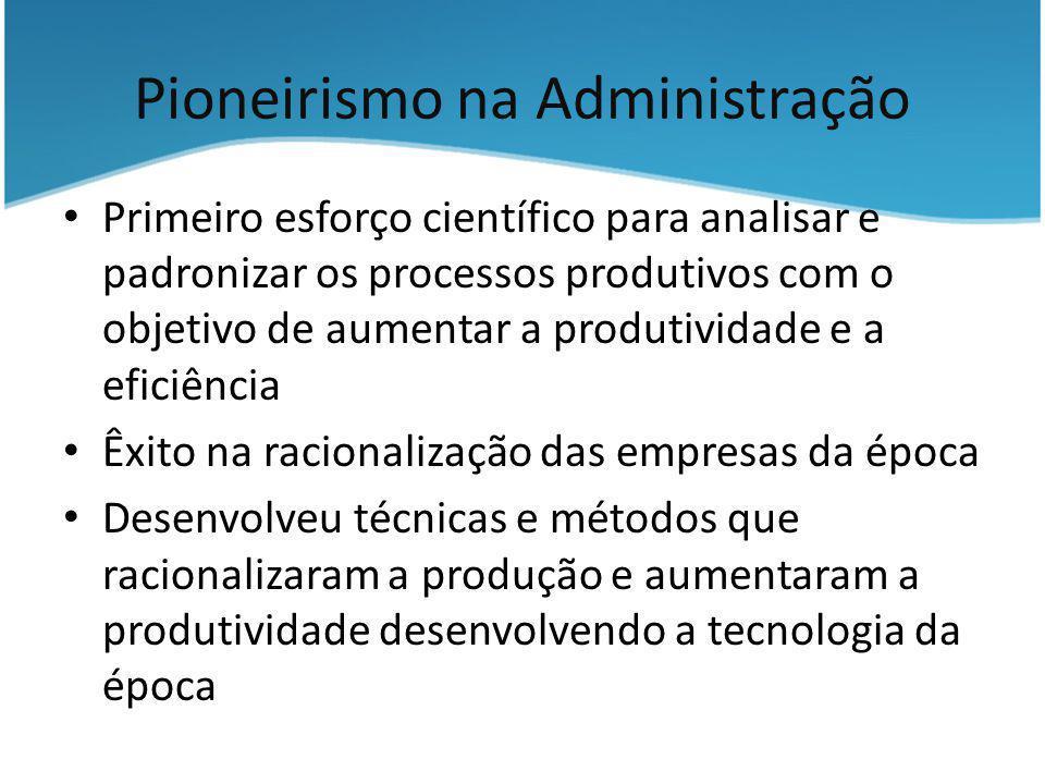 Pioneirismo na Administração