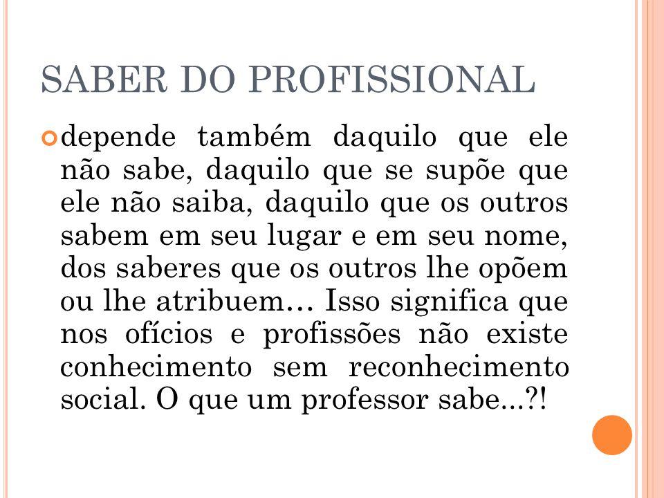 SABER DO PROFISSIONAL