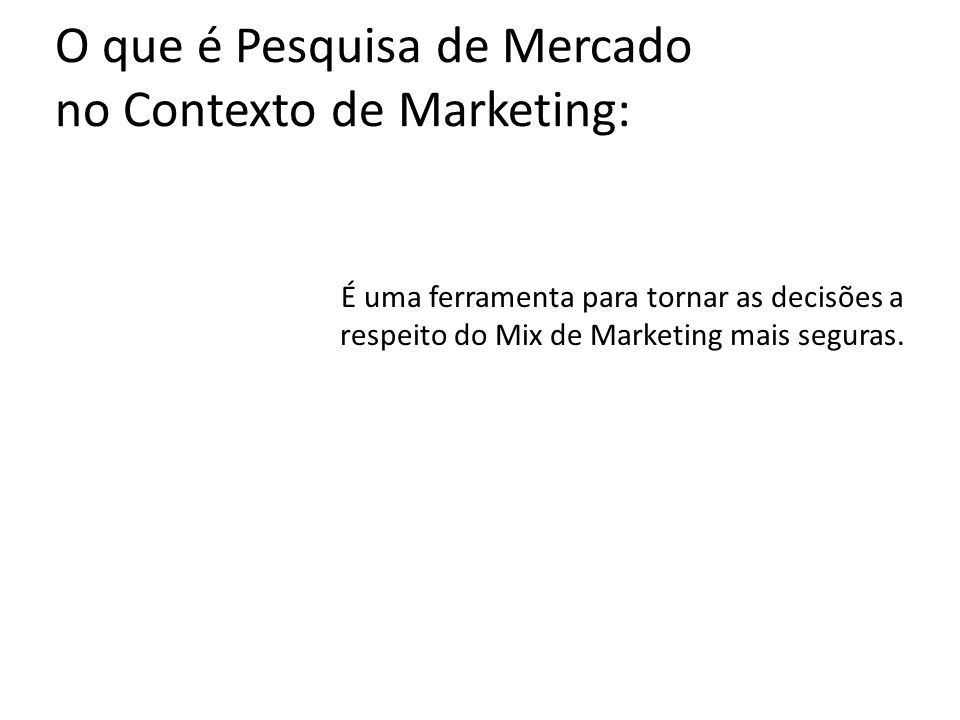 O que é Pesquisa de Mercado no Contexto de Marketing: