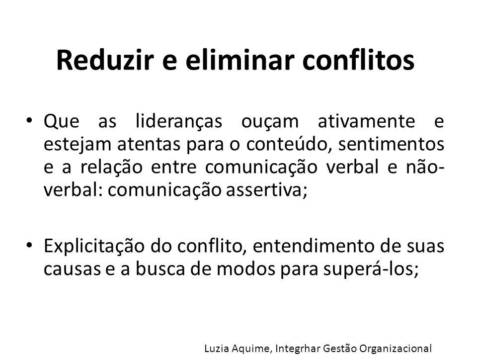 Reduzir e eliminar conflitos