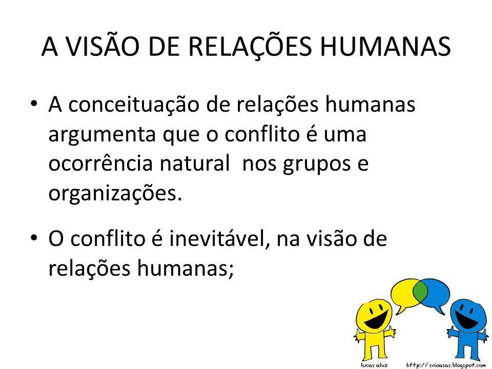 A VISÃO DE RELAÇÕES HUMANAS