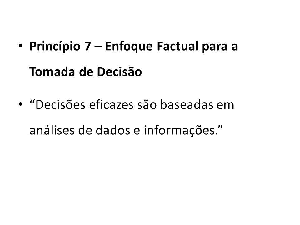 Princípio 7 – Enfoque Factual para a Tomada de Decisão