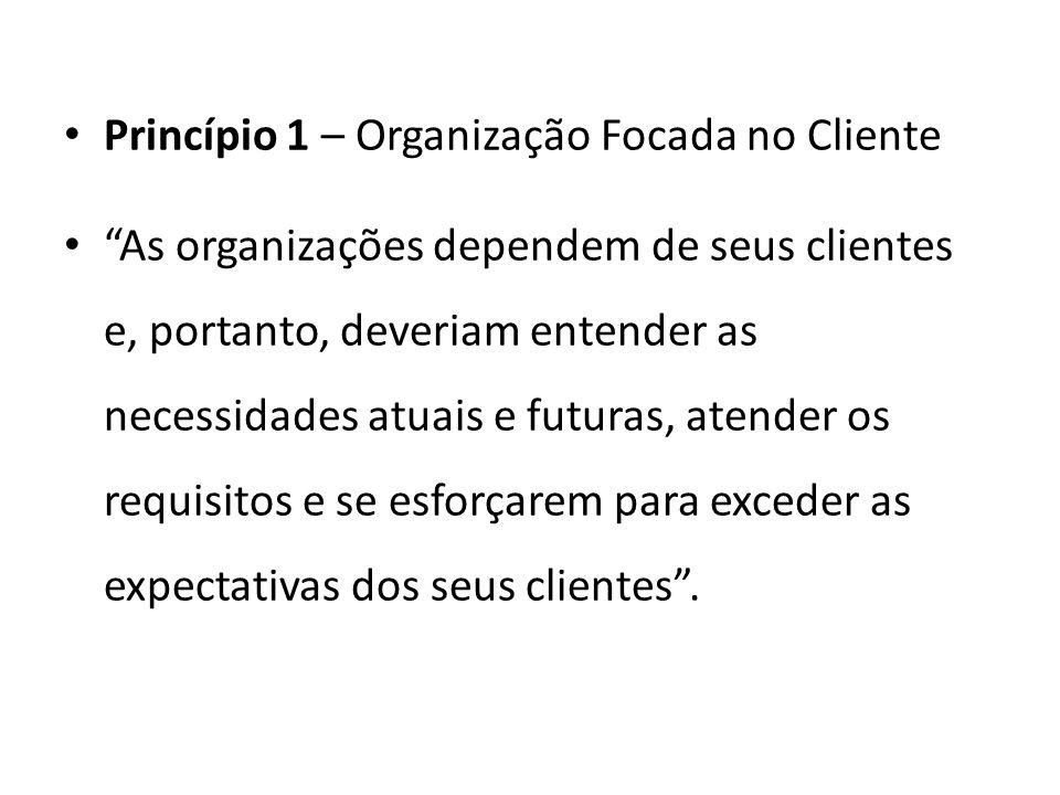 Princípio 1 – Organização Focada no Cliente