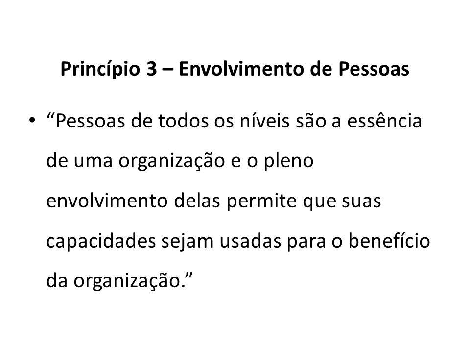 Princípio 3 – Envolvimento de Pessoas