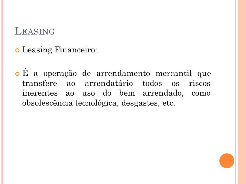 Leasing Leasing Financeiro: