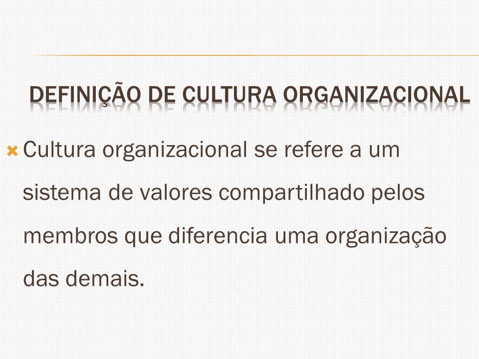 Definição de cultura organizacional