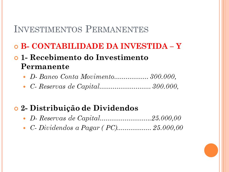 Investimentos Permanentes