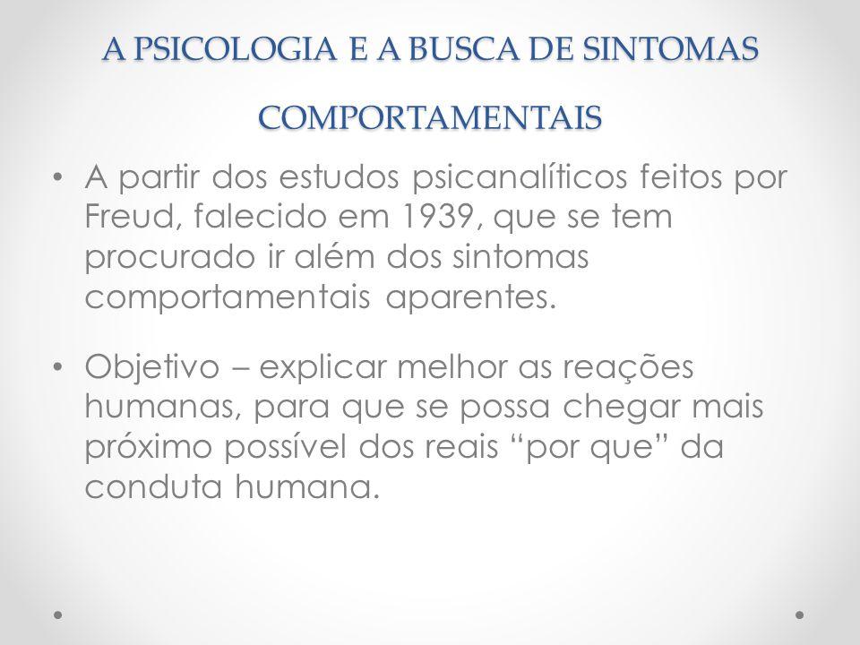 A PSICOLOGIA E A BUSCA DE SINTOMAS COMPORTAMENTAIS
