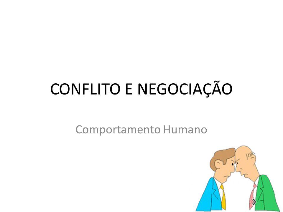CONFLITO E NEGOCIAÇÃO Comportamento Humano