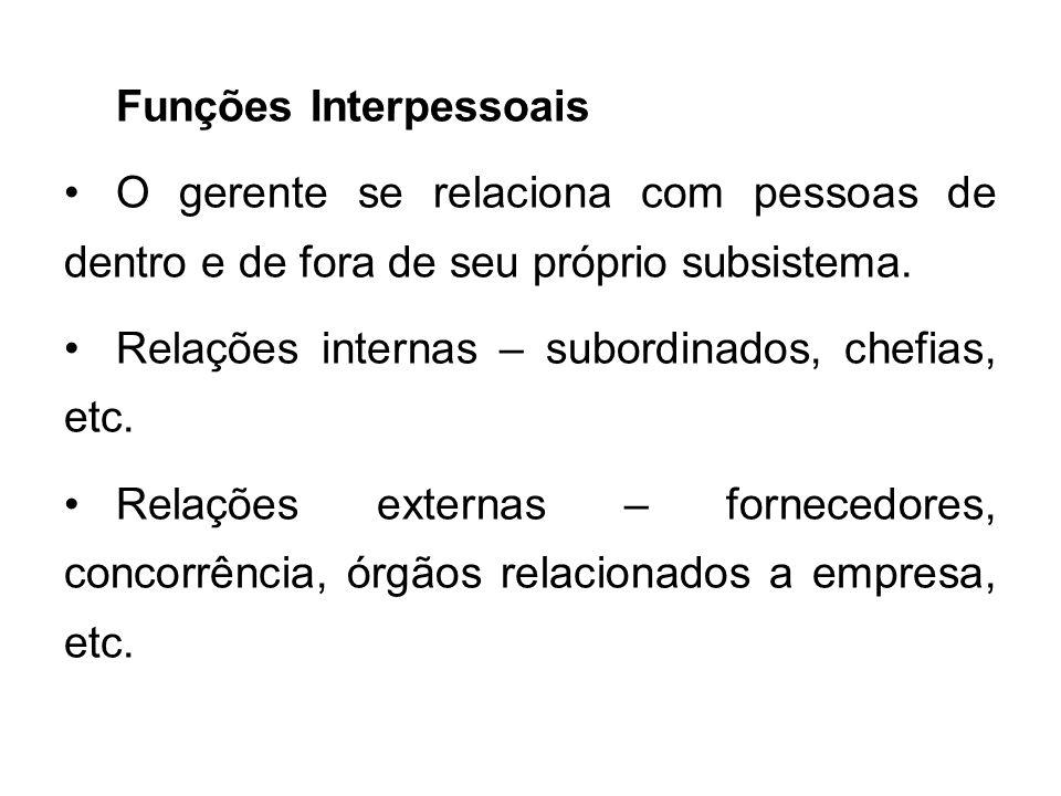 Funções Interpessoais