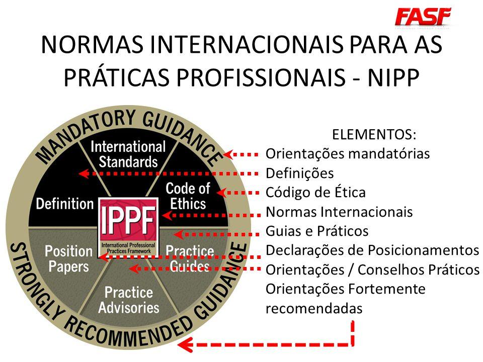 NORMAS INTERNACIONAIS PARA AS PRÁTICAS PROFISSIONAIS - NIPP