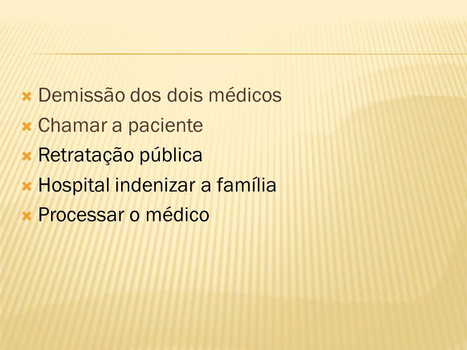 Demissão dos dois médicos