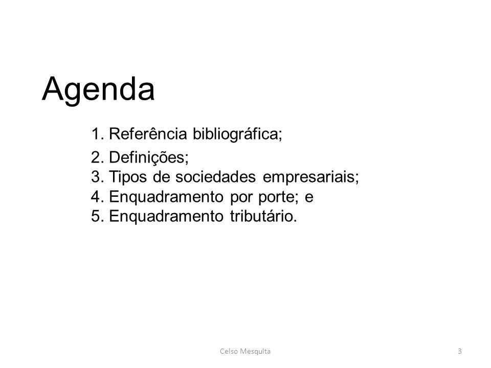 Agenda. 1. Referência bibliográfica;. 2. Definições;. 3