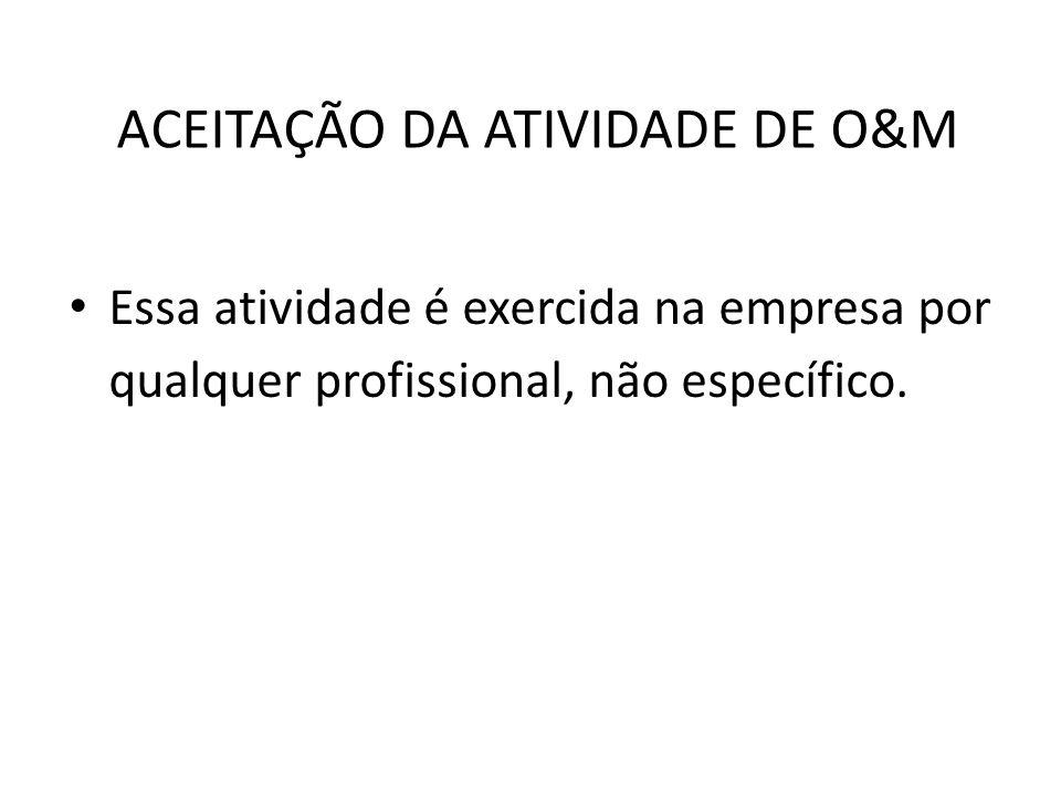 ACEITAÇÃO DA ATIVIDADE DE O&M