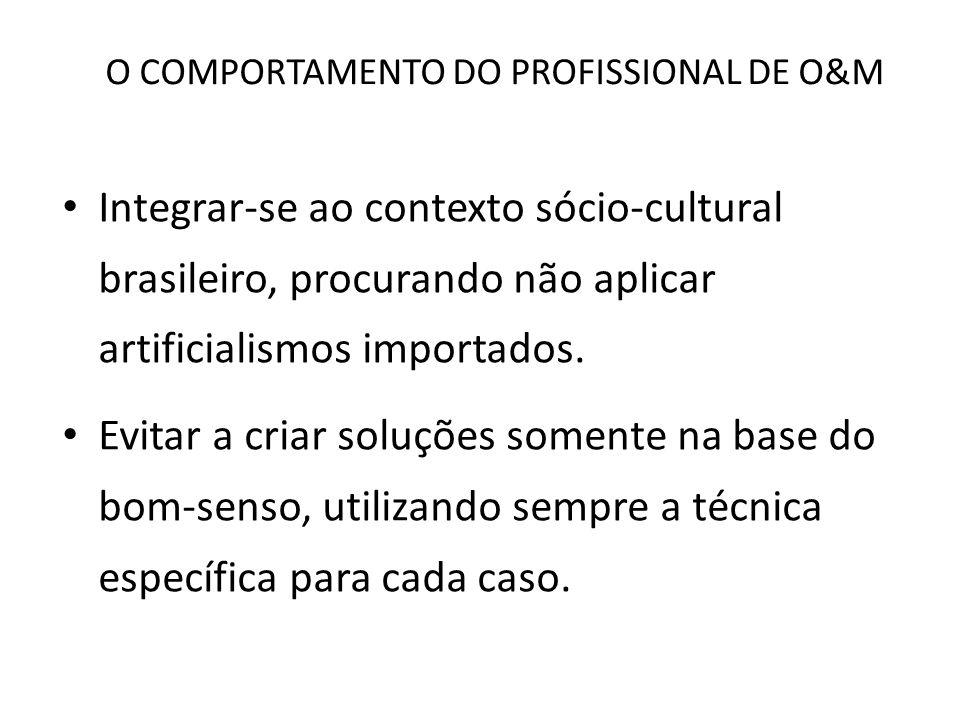 O COMPORTAMENTO DO PROFISSIONAL DE O&M