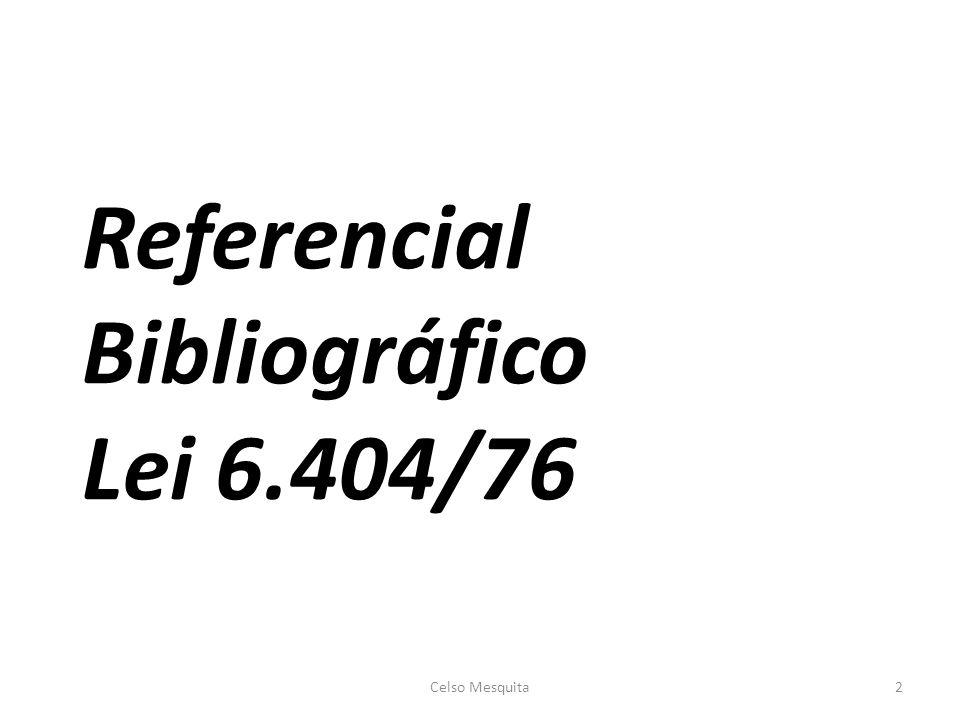 Referencial Bibliográfico Lei 6.404/76