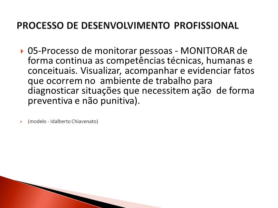 PROCESSO DE DESENVOLVIMENTO PROFISSIONAL