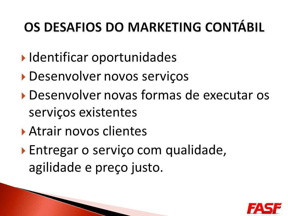 OS DESAFIOS DO MARKETING CONTÁBIL