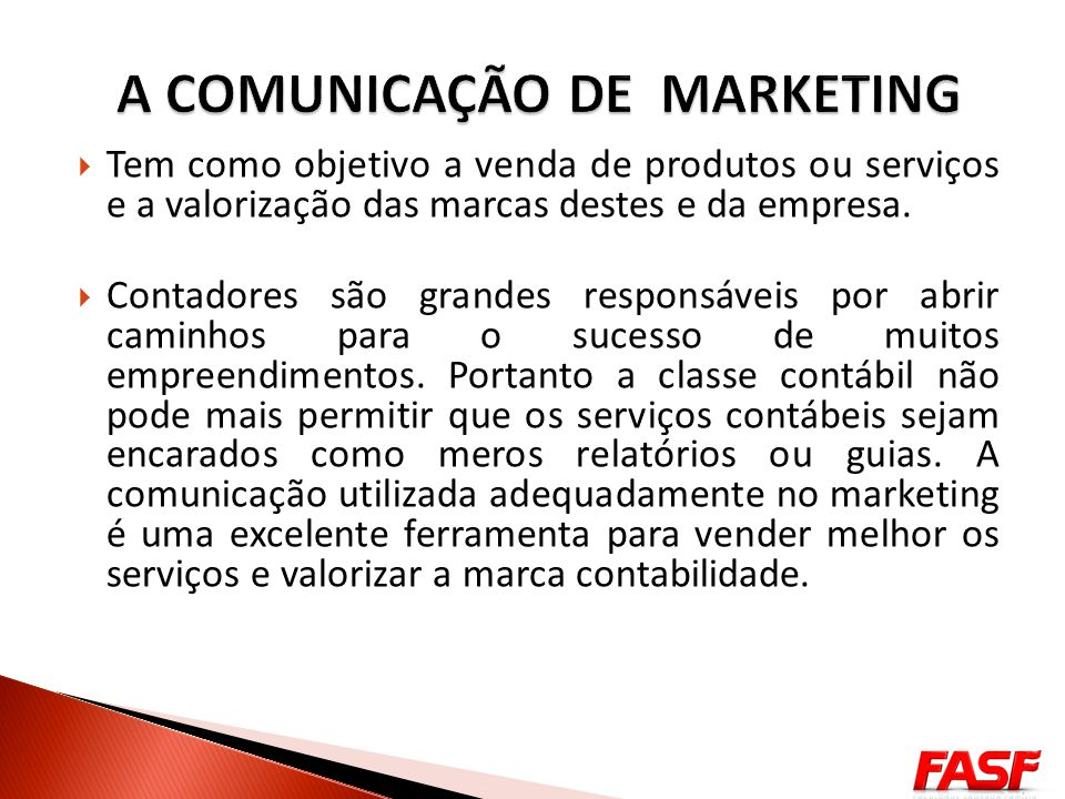 A COMUNICAÇÃO DE MARKETING