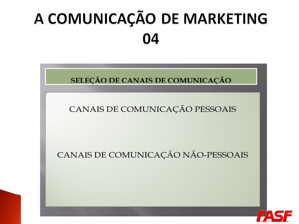 A COMUNICAÇÃO DE MARKETING 04
