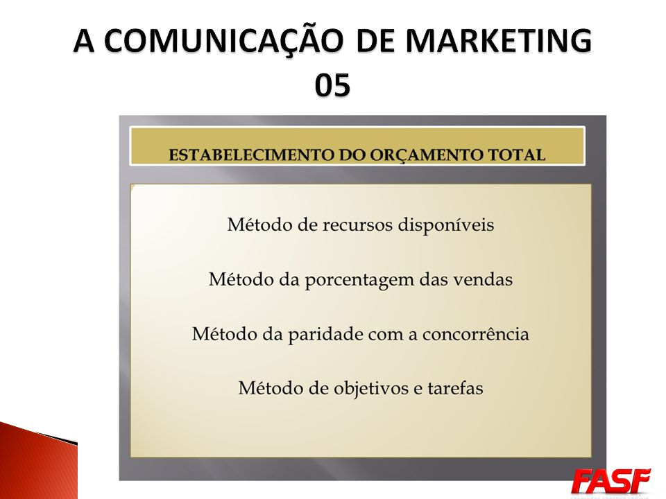 A COMUNICAÇÃO DE MARKETING 05