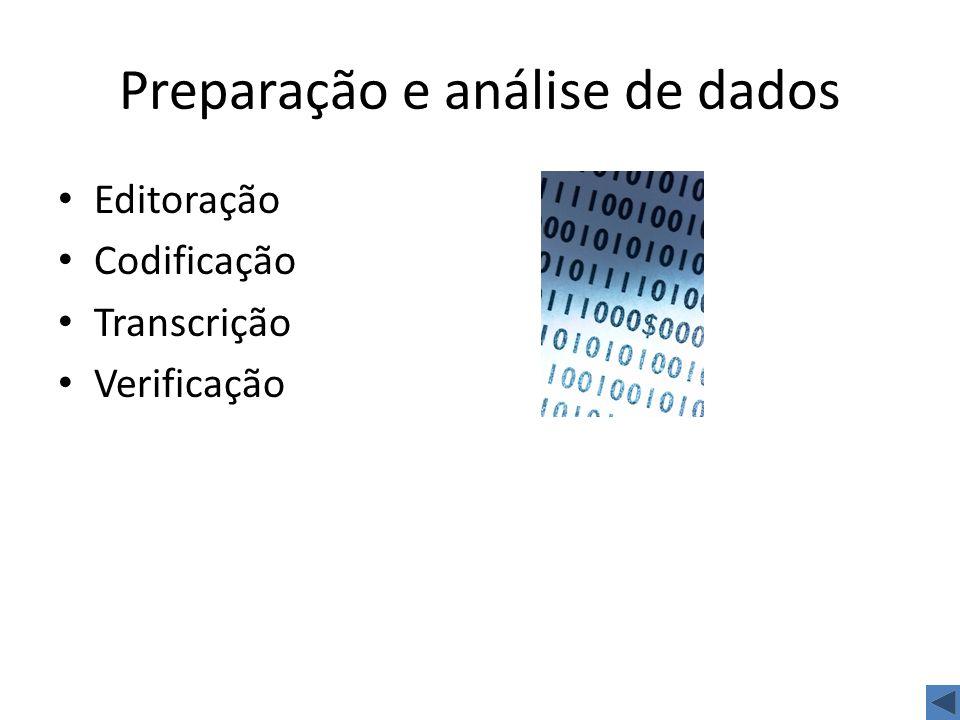Preparação e análise de dados